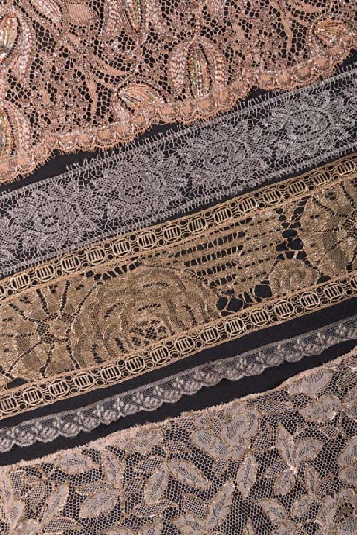 METALLIC LACE DRESS PANELS & YARDAGE, 1900-1930