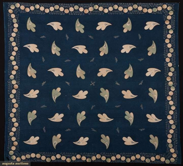 INDIGO NECKERCHIEF, 1830-1850