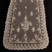 TWO HANDMADE LACE WEDDING VEILS, LATE 19TH-EARLY 20TH C