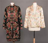 TWO EMBROIDERED EXPORT COATS CHINA 19301950