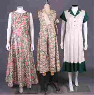 TWO CULOTTES & ONE DAY DRESS, AMERICA, 1920 & 1940-50s