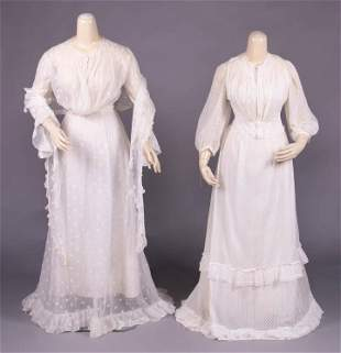 TWO TEA GOWNS, 1905-1910