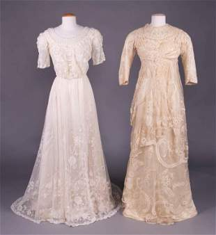 TWO TEA GOWNS, c. 1910