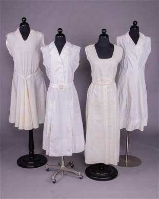 FOUR SPORTING OR TENNIS DRESSES, c. 1930