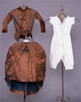 DOLLY VARDEN DOLL DRESS, 1880s