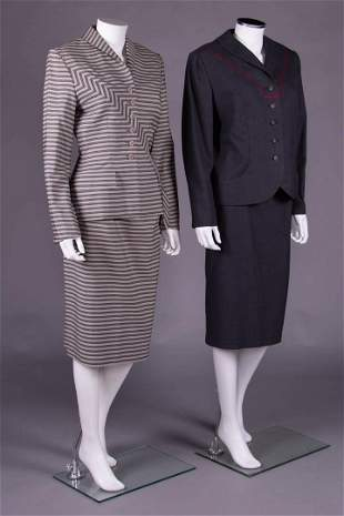 TWO IRENE SKIRT SUITS, AMERICA, 1950s