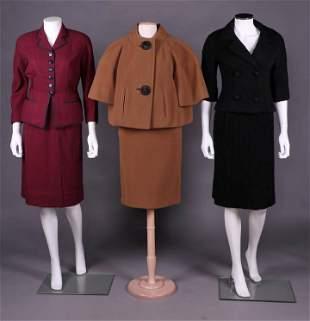 THREE SKIRT SUITS, AMERICA, 1960s