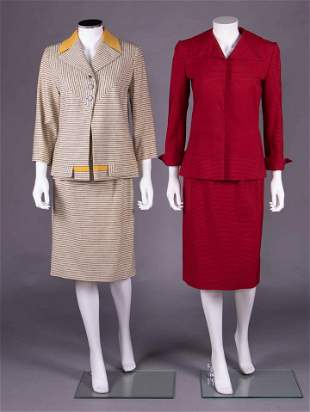 TWO IRENE WOOL SKIRT SUITS, AMERICA, 1948-1953