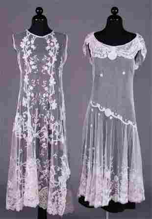 TWO TEA DRESSES, EARLY 1930s