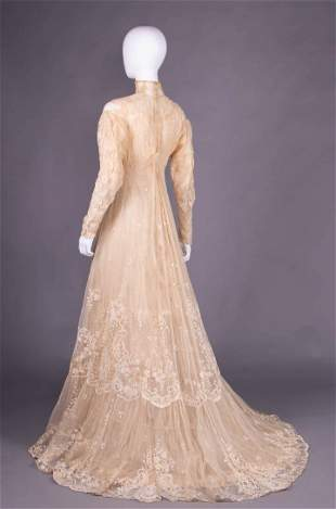 TULLE EMBROIDERED TEA GOWN, c. 1912
