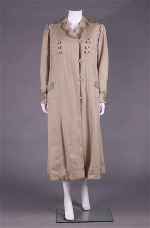 MILITARY INSPIRED LADIES BROADCLOTH COAT, c. 1915