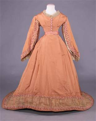 YOUNG LADIES TRAINED GOWN, 1866-1867