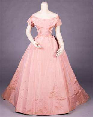 ROSE PINK DINNER GOWN, c. 1868