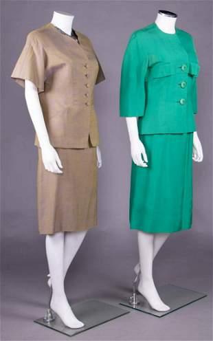TWO IRENE SUMMER SKIRT SUITS, AMERICA, 1950-1957
