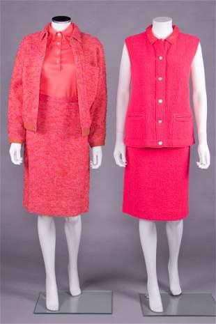 TWO PINK BONNIE CASHIN ENSEMBLES, AMERICA, 1958-1972
