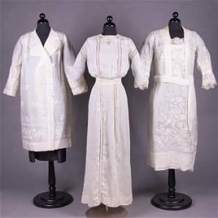 TWO TEA DRESS & ONE SUMMER COAT, 1908-1925