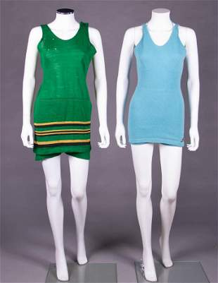 TWO LABELED WOOL BATHING SUITS, CALIFORNIA, 1920-1930s