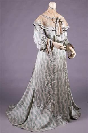 SILK CHARMEUSE DAY DRESS,  c. 1903