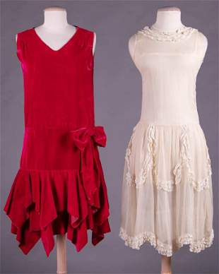 TWO PARTY DRESSES, 1920s