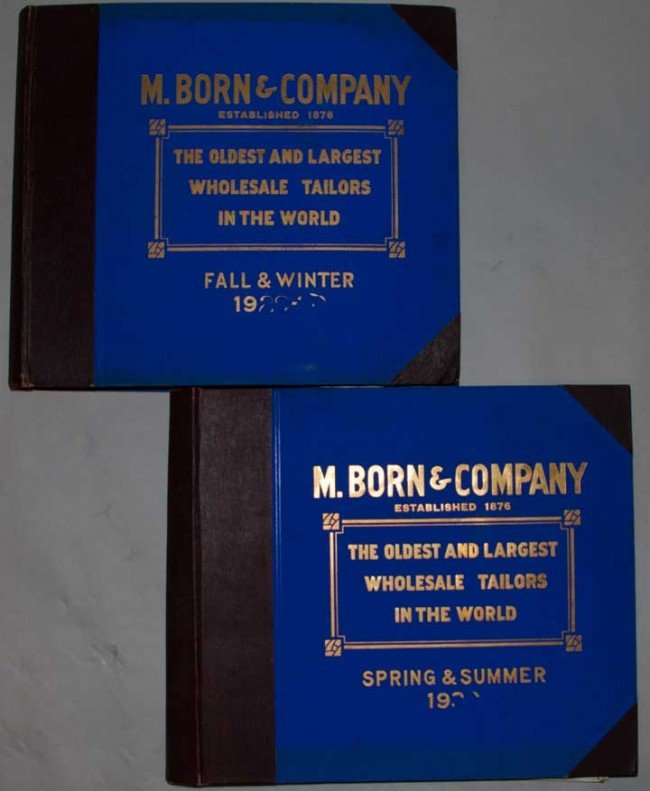 3: TWO SWATCH BOOKS FOR MEN'S SUITS, 1923-1924