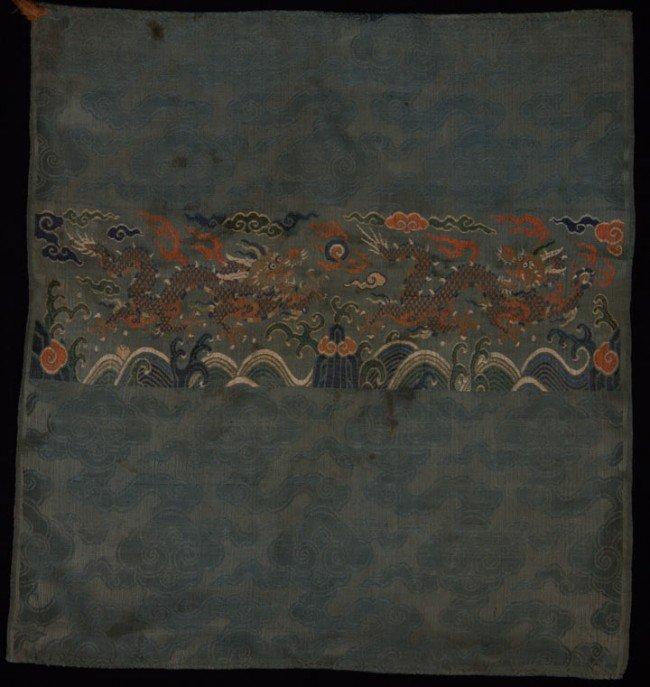 19: BUDDHIST DRAGON PANEL, TIBET, 17TH C