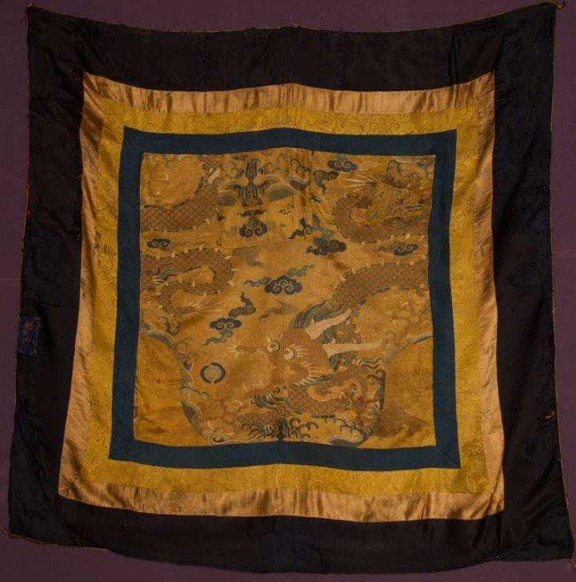 20: SILK BROCADE CANOPY COVER, TIBET, 1600-1630