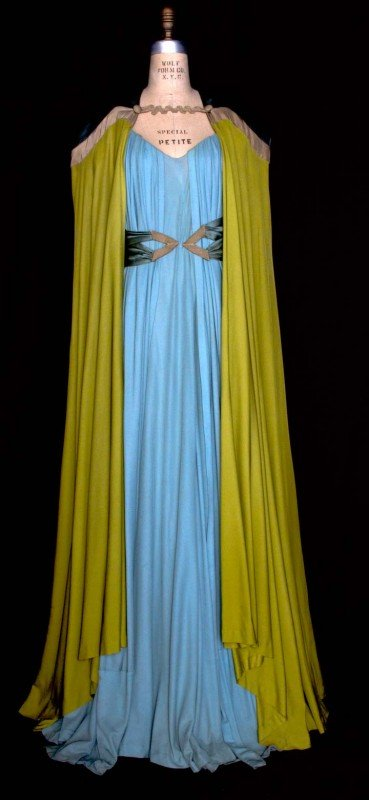 283: ELIZABETH HAWES EVENING GOWN & CAPE, 1930s