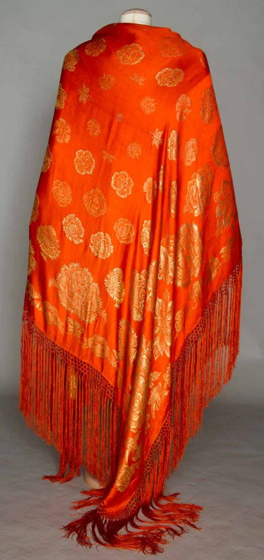 14: SILK & LAME EVENING SHAWL, 1920-1930