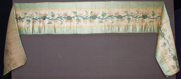 21: SILK IKAT YARDAGE, FRANCE, EARLY 18TH C