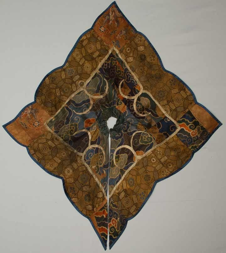 27: BROCADE PATCHWORK COLLAR, CHINA, 16TH-18TH C
