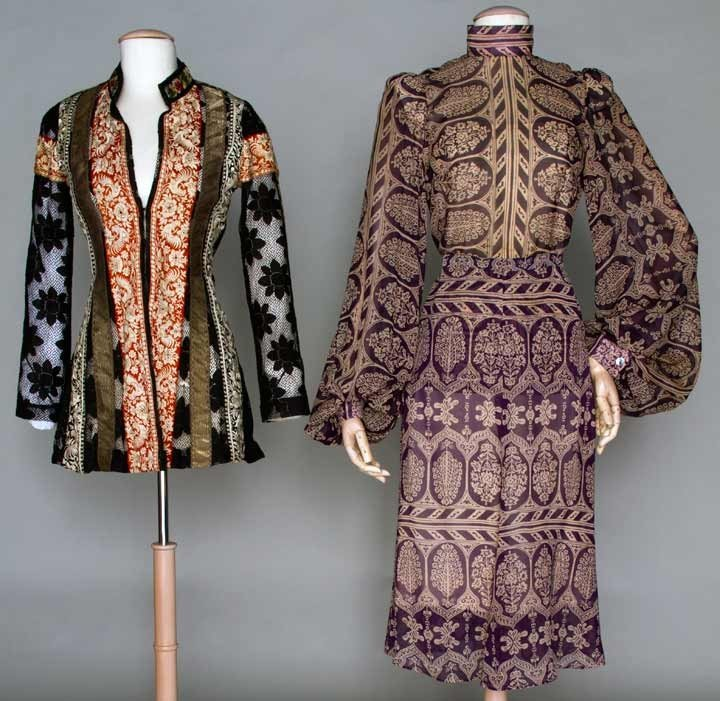 393: TWO THEA PORTER GARMENTS, c. 1970