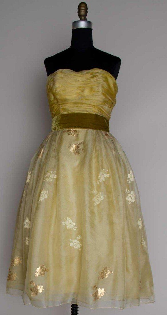 2: JACQUES HEIM PARTY DRESS, c. 1958
