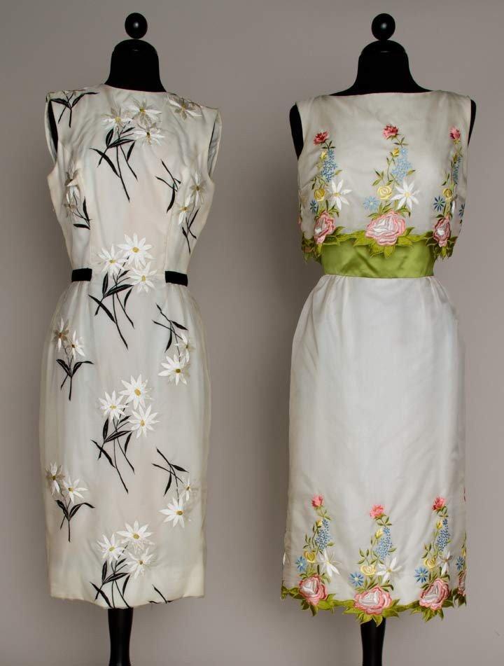 3: TWO ESTEVEZ PARTY DRESSES, 1960s