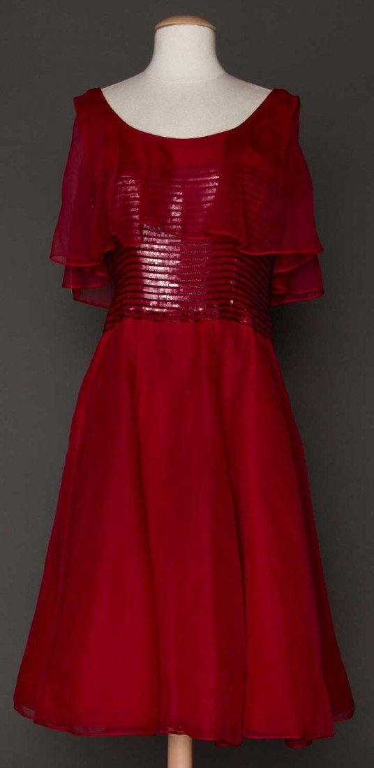5: DIOR COUTURE RED GOWN, FALL 1961