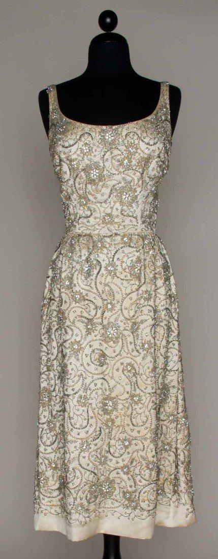 6: JEWEL ENCRUSTED EVENING DRESS, LATE 1950s
