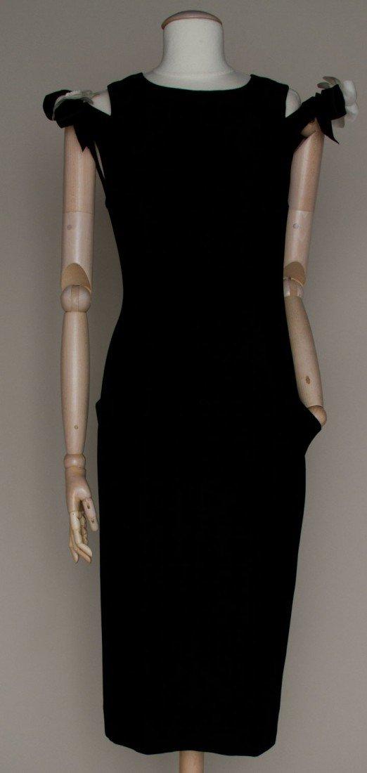 7: CHANEL BLACK DINNER DRESS, 1960s