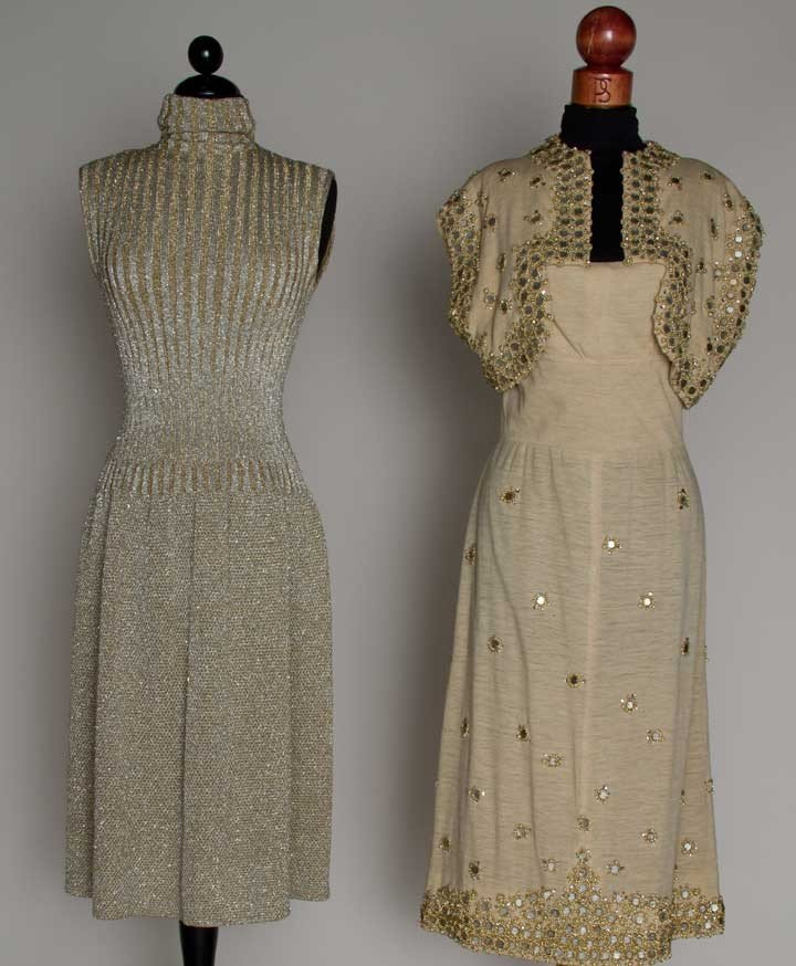 10: TWO TRIGERE PARTY DRESSES, 1953 & 1968