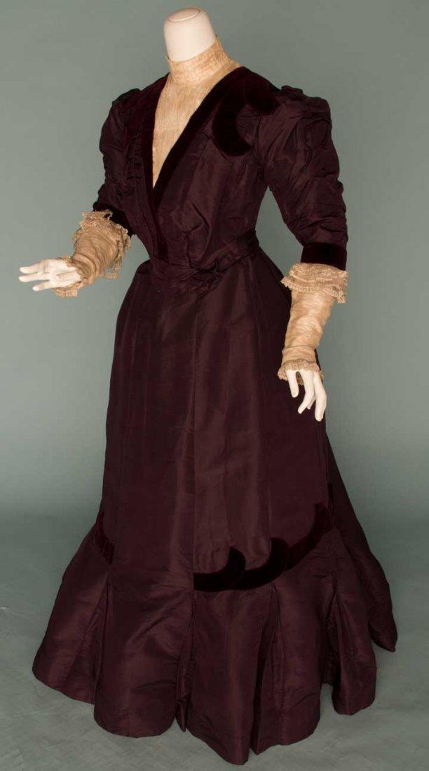 8: PLUM SILK DAY DRESS, c. 1899