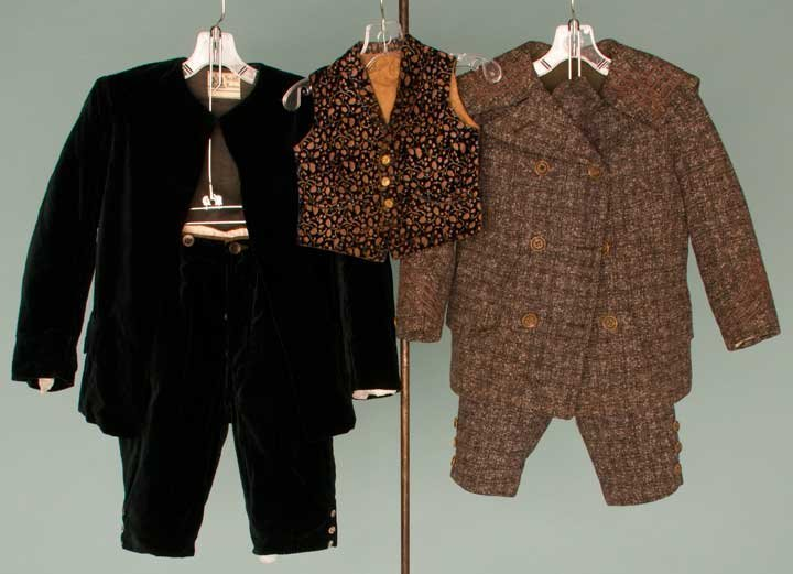 19: TWO LITTLE BOYS' SUITS, 1880s