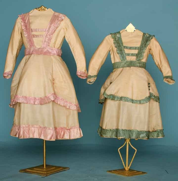 20: TWO SISTER'S DRESSES, 1860s