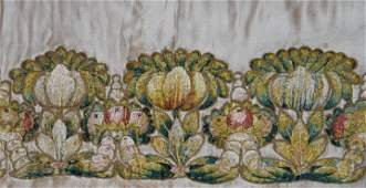 74: EMBROIDERED ALTAR FRONTAL, EUROPE, 18TH C