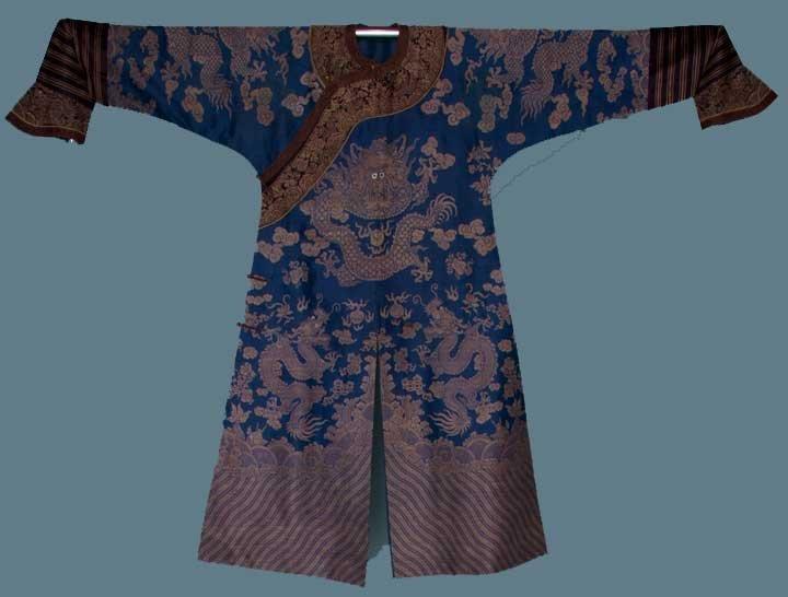 125: MANCHU DRAGON ROBE, CHINA, 1880-1910