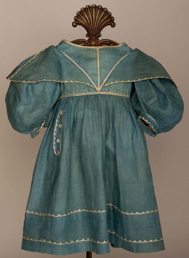 TODDLER'S BLUE SUMMER DRESS, 1825-1835