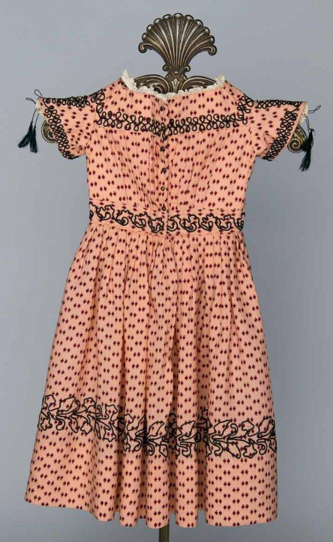 CHILD'S PRINTED WOOL DRESS, 1850s