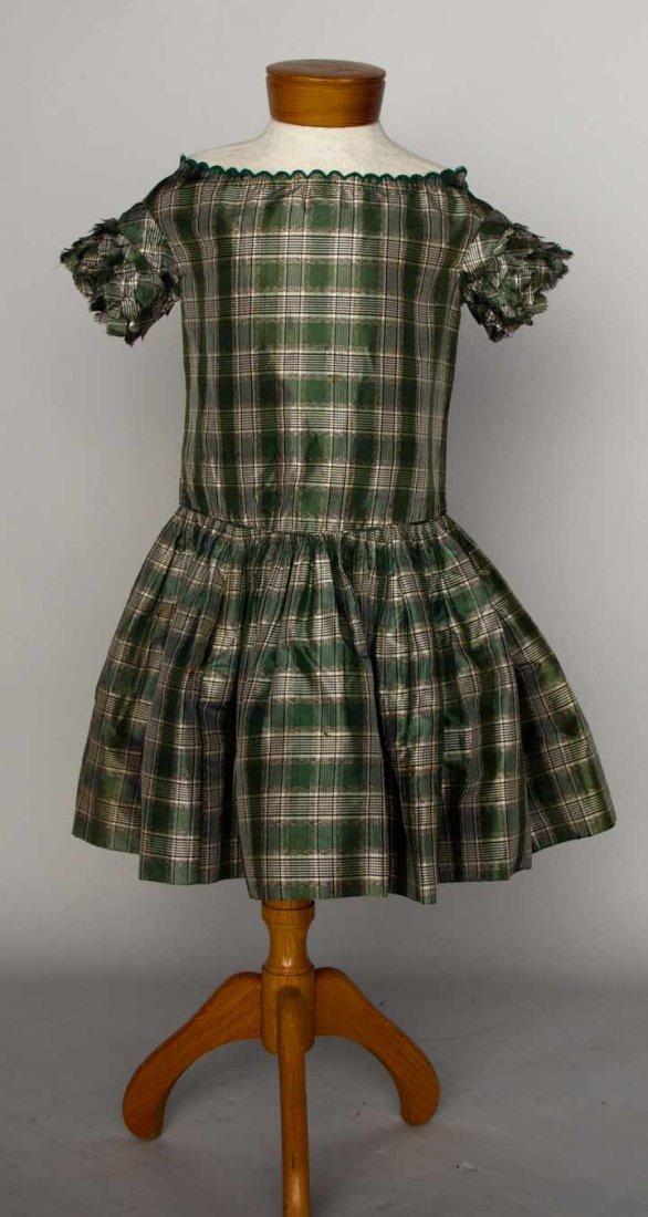 BOY'S SILK PLAID DRESS, 1840-1850s