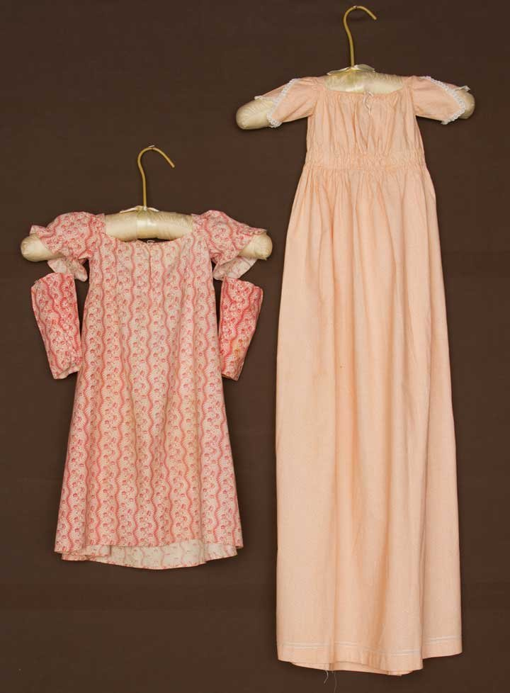 TWO TODDLERS' CALICO DRESSES, EARLY 19TH C