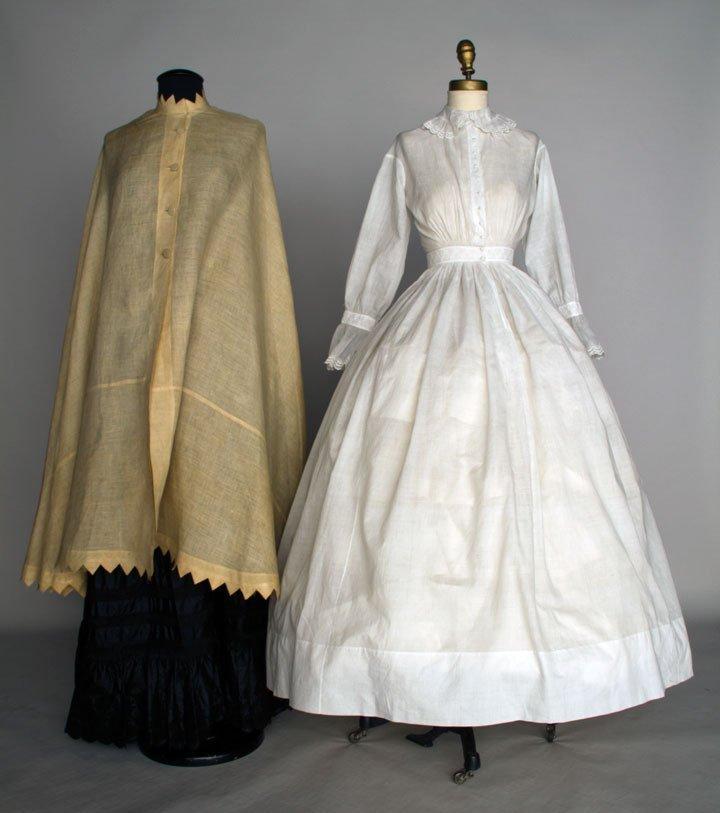 TWO WHITE DAY GARMENTS, 1850-1860