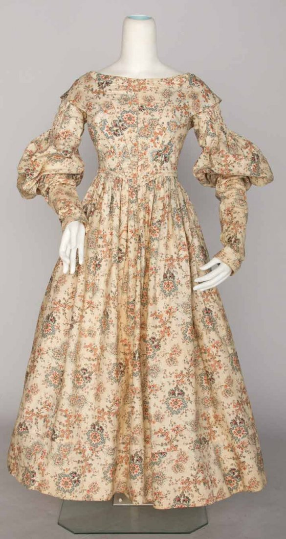 GIRL'S DAY DRESS & PELERINE, 1837-1840