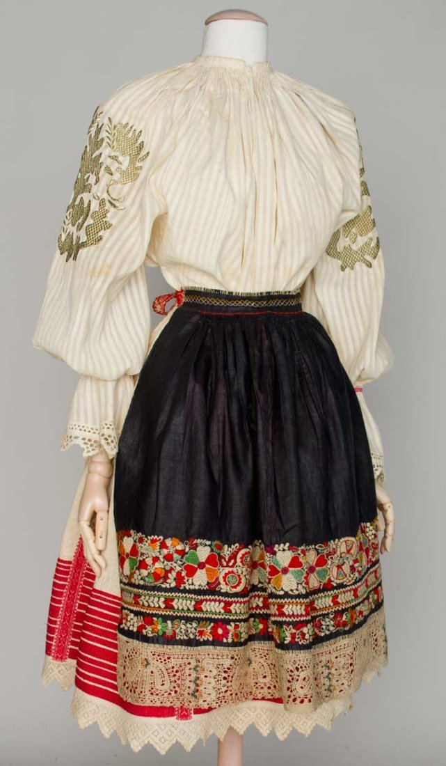 WOMAN'S REGIONAL DRESS, HUNGARY, 19TH C