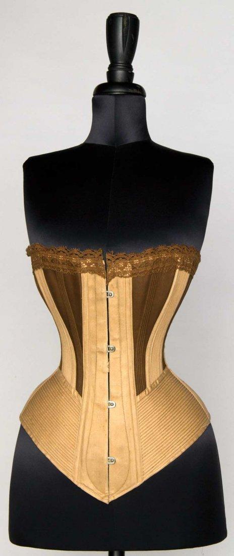 TWO-TONE SPOON BUSK CORSET, 1875-1895
